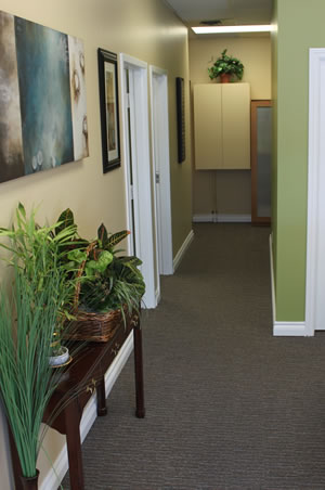 Niagara Therapeutics Wellness Clinic Hallway